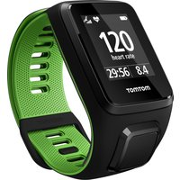 TomTom Runner 3 Cardio Music Small Heart Rate Monitor - Black/Green