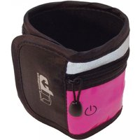 Ultimate Performance LED High-Visibility Running Wristband - Black/Pink