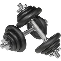 Image of Viavito 20kg Black Cast Iron Dumbbell Set