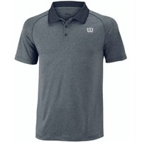 Wilson Core Mens Polo Shirt - Grey, L