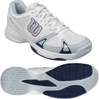 Wilson Rush EVO Mens Tennis Shoes - White/Blue, 11.5 UK