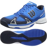 Wilson Rush EVO Mens Tennis Shoes - Blue/White, 9.5 UK