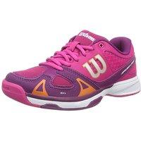 Wilson Rush Pro Junior Tennis Shoes - Purple/Pink, 3 UK