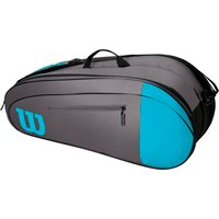 Wilson Team 6 Racket Bag - Grey/Blue