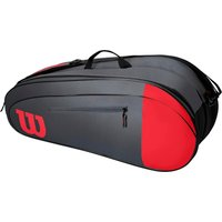 Wilson Team 6 Racket Bag - Grey/Red