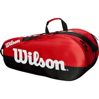 Wilson Team 6 Racket Bag - Black/Red
