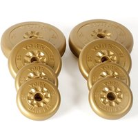 Image of York 20kg Gold Vinyl Weight Plates