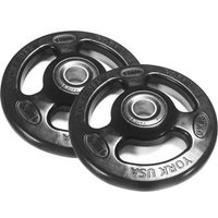 Image of York 2 x 15kg Rubber ISO-Grip Weight Plates