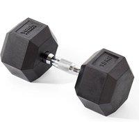 Image of York Fitness 15kg Rubber Hex Dumbbell