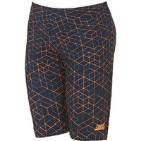 Zoggs Maze Boys Swimming Jammers - Black/Orange, 23