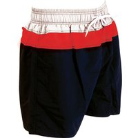 Zoggs Muriwai 17 inch Shorts - Black/Red, M