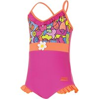 Zoggs Playtime Frill V Neck Girls Swimsuit - 3 Year