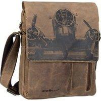 Greenburry Umhängetasche Vintage 1639 Schultertasche RFID Brown