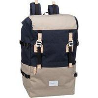 Sandqvist Laptoprucksack Harald Backpack Multi Beige/Blue (21 Liter)