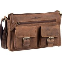 Greenburry Umhängetasche Vintage 1769 Pocketbag Sattelbraun