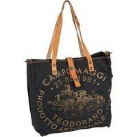 Campomaggi Handtasche Shopper C1671 Teodorano Nero/Naturale/Stampa Oro