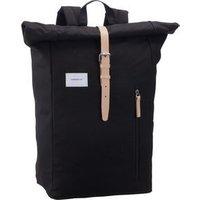 Sandqvist Laptoprucksack Dante Backpack Black with Tan (18 Liter)