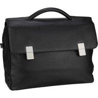 Mandarina Duck Aktentasche Detroit Leather Fold Briefcase UZC02 Black