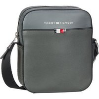 Tommy Hilfiger Umhängetasche Business Leather Mini Reporter SP20 Concrete Grey
