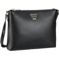 DKNY Umhängetasche Whitney Pebble Flat Crossbody Black/Gold