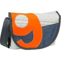 360Grad Umhängetasche Perle Blau mit oranger Zahl