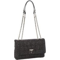 Guess Umhängetasche Cessily Tweed Convertible XBody Flap II Black