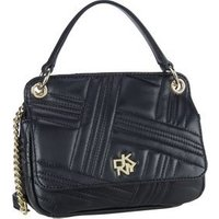 DKNY Umhängetasche Alice Mini Flap Crossbody Quilted Black/Gold