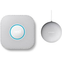 Google Nest Protect Rauch- & Kohlenmonoxidmelder + Google Nest Mini