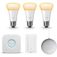 Philips Hue White Ambiance E27 Bluetooth Starter Kit + gratis Google Nest Mini