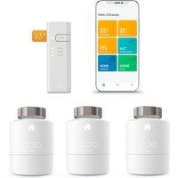tado°  Smartes Heizkörper Thermostat Starter Kit V3+ mit 3 Thermostaten & Bridge