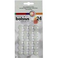 Bolsius Wachsklebeplättchen Weiss 24er Pack
