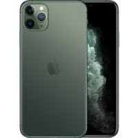 Apple iPhone 11 Pro Max 256GB A2220 Dual Sim with Tempered Glass Screen Protector - Midnight Green