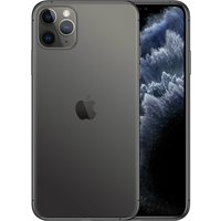 Apple iPhone 11 Pro Max 256GB A2220 Dual Sim with Tempered Glass Screen Protector - Space Gray