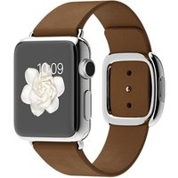 Apple Watch Mj3a2 38mm Stainless Steel Case With Brown Modern Buckle(small)