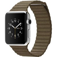 Apple Watch Mj422 42mm Stainless Steel Case With Brown Leather(large)