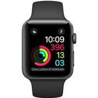 Apple Watch Series 2 - 42mm Space Grey Aluminium Case With Black Woven Nylon Band - Mp072