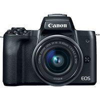 Canon EOS M50 Mirrorless Digital Camera with EF-M 15-45mm camera Kit with LP-E12 battery - Black (International Ver.)