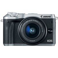 Canon EOS M6 Mirrorless Digital Camera with EF-M 15-45mm camera Kit with LP-E17 battery - Silver