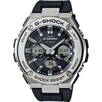 'Casio G-shock G-steel Tough Solar Analog-digital Watch Gst-s110-1a - Silver + Black