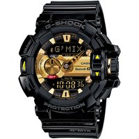 Casio G-SHOCK G'MIX 200M Water Resistance Mobile Link Watch GBA-400-1A9 - Black + Gold