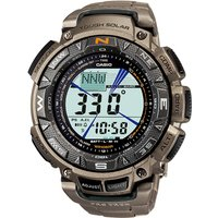 'Casio Pro Trek Tough Solar Titanium Watch Prg-240t-7 - Silver