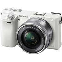 Sony Alpha A6000 with 16-50mm & 55-210mm Lens Digital Mirrorless Camera (PAL) - White