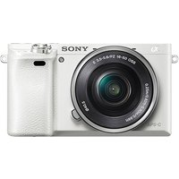Sony Alpha A6000 with 16-50mm Interchangeable Lens Digital Camera (PAL) - White
