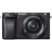 Sony Alpha A6300 with 16-50mm Interchangeable Lens Digital Camera (PAL) - Black