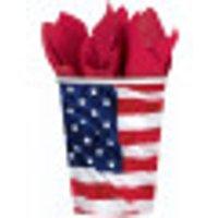 Vasos con la bandera de EE
