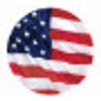 Miniplatos con la bandera de EE