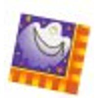 Servilletas de papel para Halloween violeta-naranja-blanco