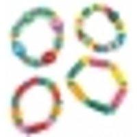 Accesorio piñata pulsera de madera multicolor