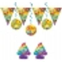 Kit decoración cumpleaños de Emoji Rainbow™ 7 piezas