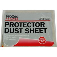 Prodec Carpet protector Poly Backed 12'x9' Dust Sheet NQ3105H